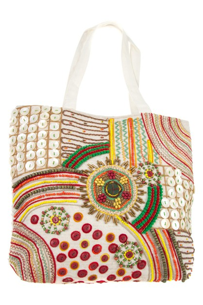 MIX BEAD PATTERN TOTE BAG - orangeshine.com