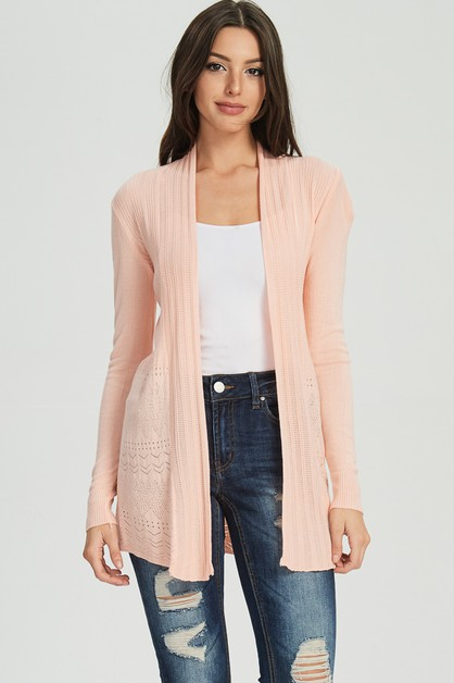 FITTED LIGHT WEIGHT CARDIGAN  - orangeshine.com
