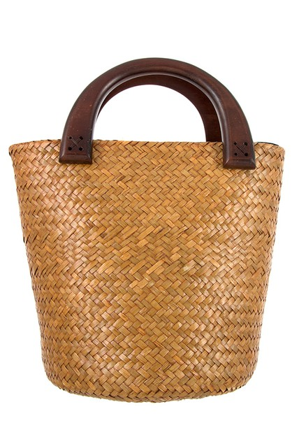 BUCKET STRAW TOTE BAG - orangeshine.com