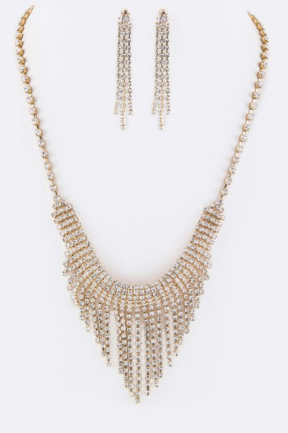 Layer Crystals Necklace Set - orangeshine.com