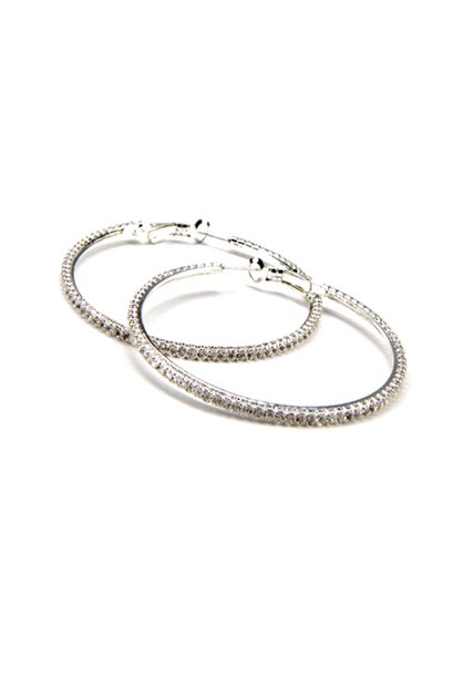 Cubic Zircon Hoop Earrings - orangeshine.com
