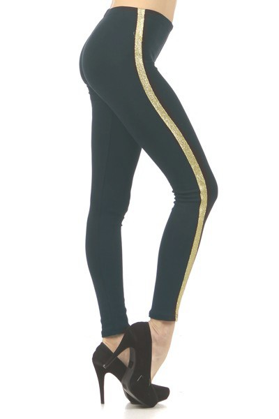 Lurex Stripe Fashion Leggings - orangeshine.com