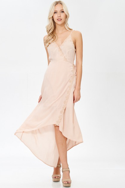 V NECK MAXI DRESS - orangeshine.com