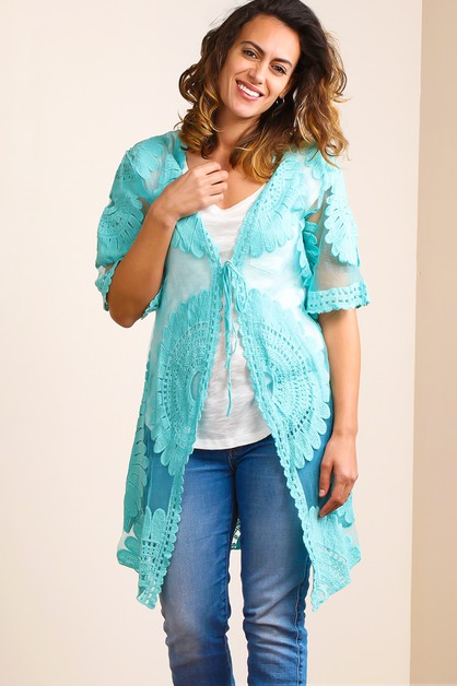 CROCHET LACE DUSTER - orangeshine.com