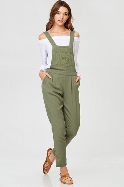 EMBROIDERED OVERALLS - orangeshine.com
