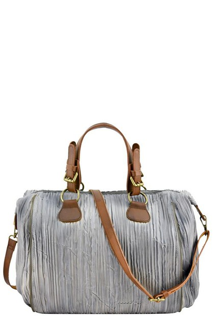 DESIGNER WRINKLE BOSTON BAG - orangeshine.com