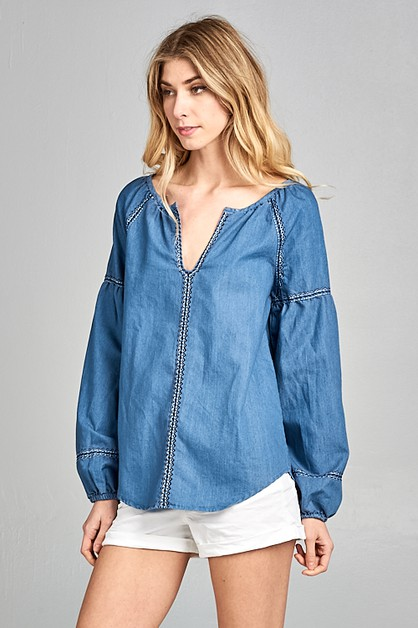 Denim Top - orangeshine.com