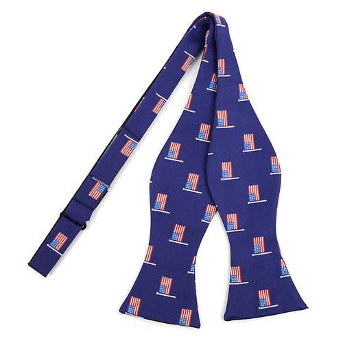 Men American Flag Self-Tie Bow Tie - orangeshine.com