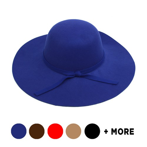 Women Floppy Wide Brim Bowknot Hat  - orangeshine.com