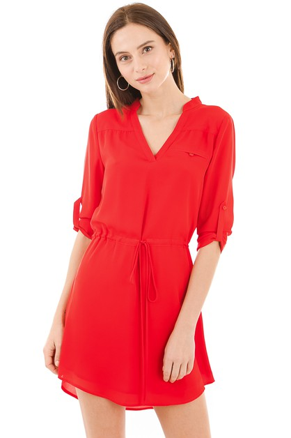 Collared shirt dress - orangeshine.com