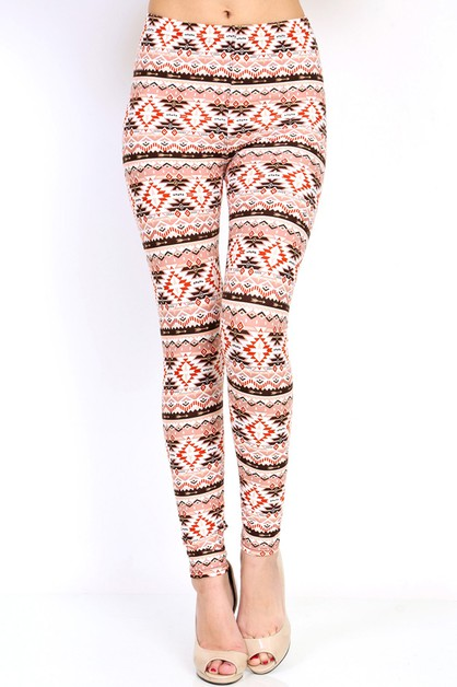 Fashion Print Soft Brushed Legging - orangeshine.com