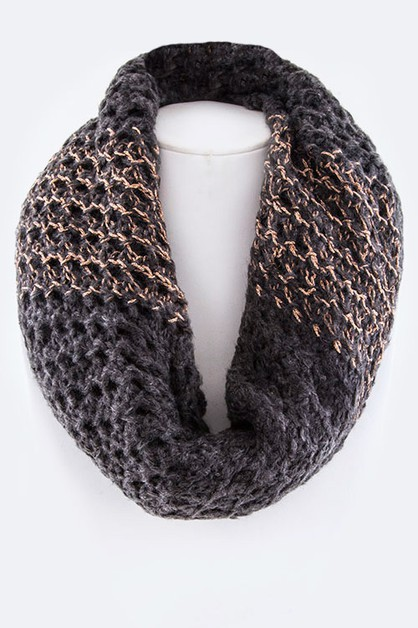 Mix Lurex Knit Neck Warmer - orangeshine.com