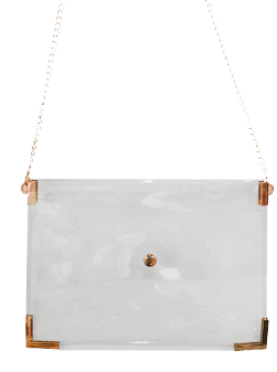 Clear Crossbody Accents Clutch - orangeshine.com