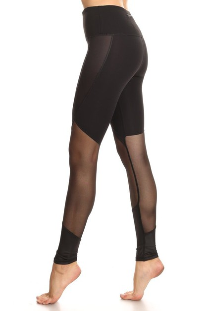 Leather Mesh Legging - orangeshine.com