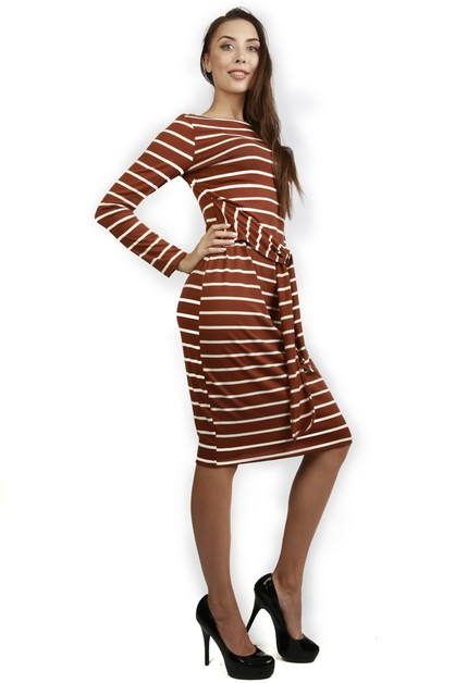 STRIPES PRINT DRESS - orangeshine.com