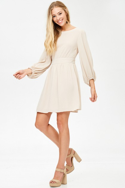 BELL SLEEVE DRESS - orangeshine.com