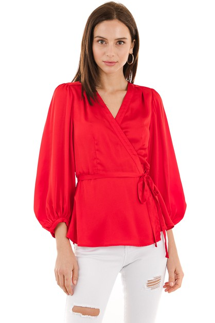 Solid surplice top - orangeshine.com