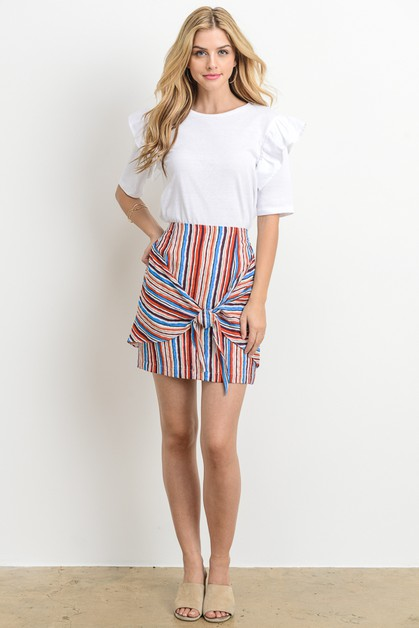 Multi Color Skirt - orangeshine.com