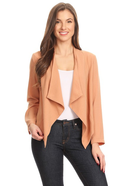 Solid loose fit jacket - orangeshine.com