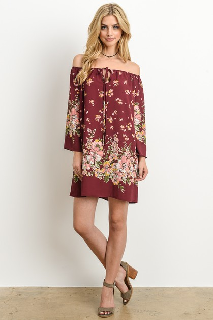 Floral short dress - orangeshine.com
