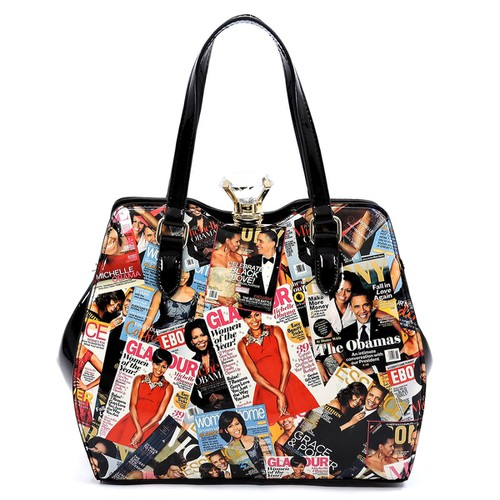 Magazine Cover  Gemstone  Satchel - orangeshine.com
