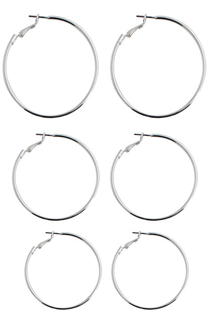 3 pairs Hoop Earring Set - orangeshine.com