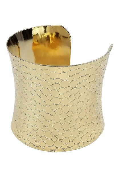 Metallic Cuff Bangle - orangeshine.com