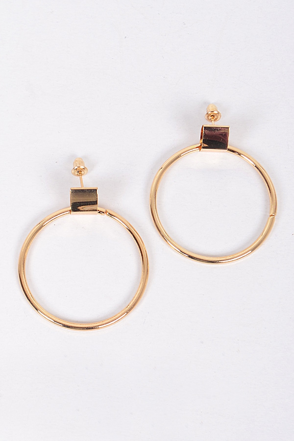 ROUND CIRCLE HOOP EARRINGS - orangeshine.com