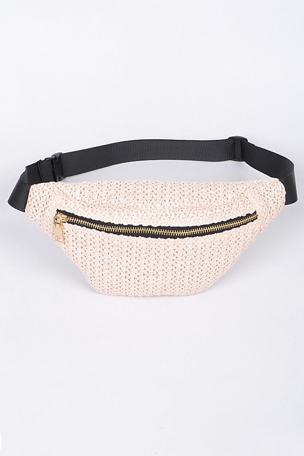 READY FOR SUMMER STRAW FANNYPACK - orangeshine.com