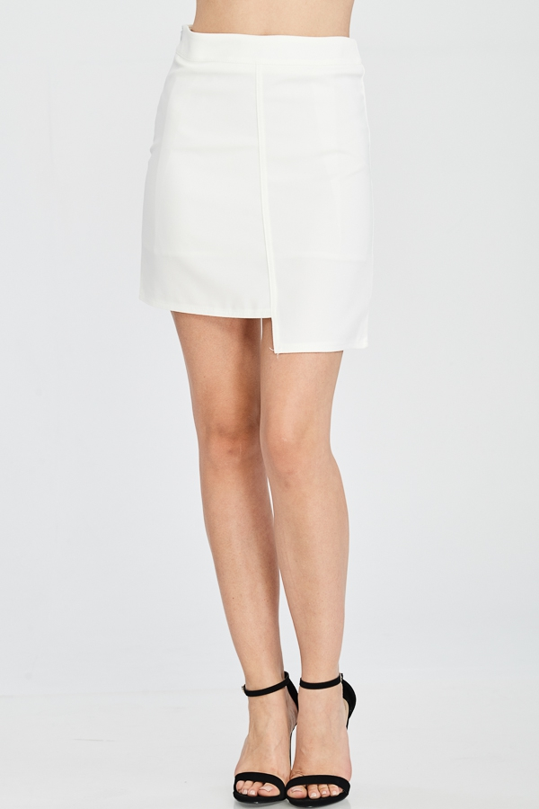 UNEVEN HEM SOLID SKIRTS - orangeshine.com