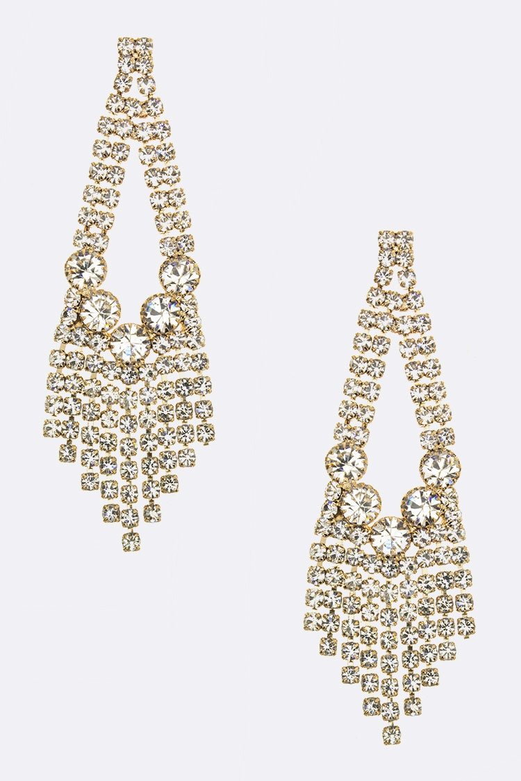 Mix Crystal Layer Earrings - orangeshine.com