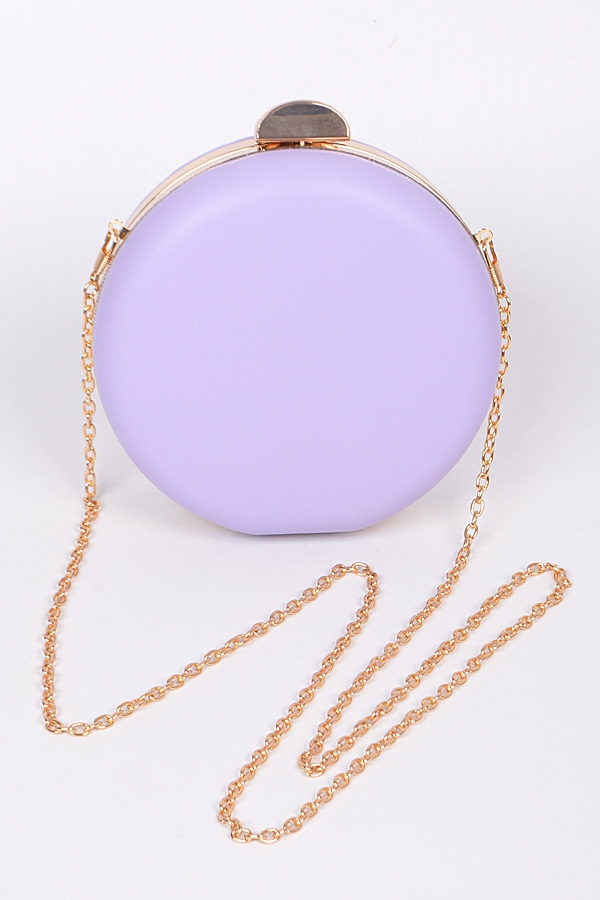 CIRCLE PLAIN CLUTCH WITH CHAIN - orangeshine.com
