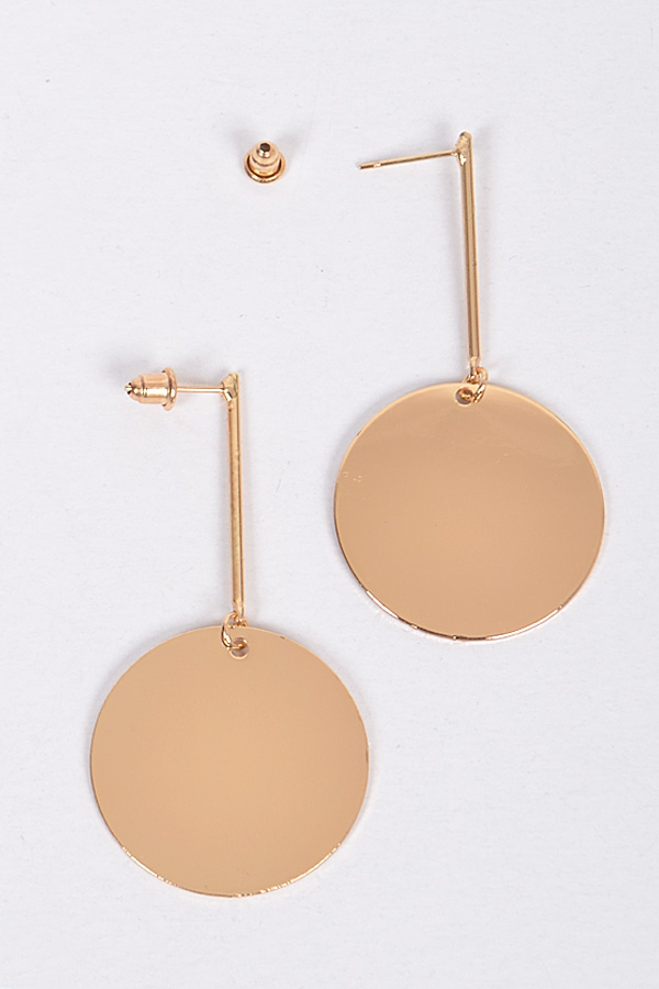 CIRCLE METALLIC EARRINGS - orangeshine.com