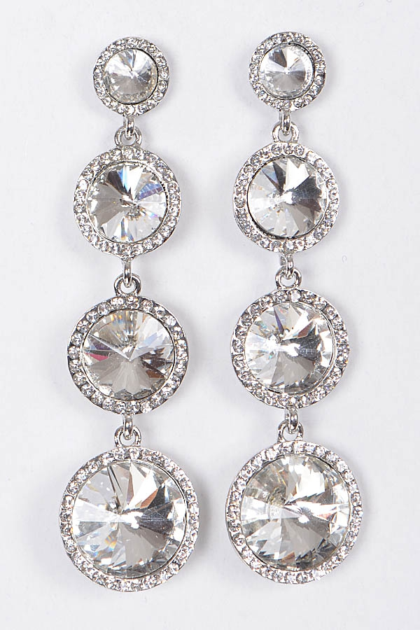 CRYSTAL DROP EARRINGS - orangeshine.com