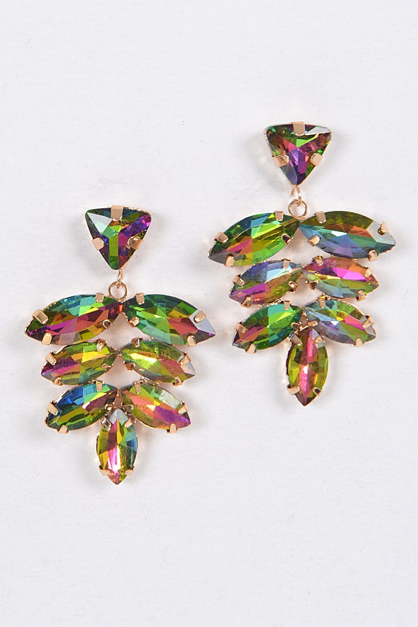 PRINCESS RHINESTONE EARRINGS - orangeshine.com