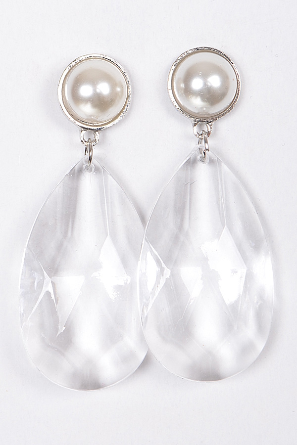 CRYSTAL TEARDROP EARRINGS - orangeshine.com
