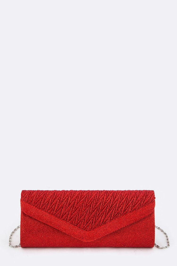 Pleated Flap Evening Clutch - orangeshine.com