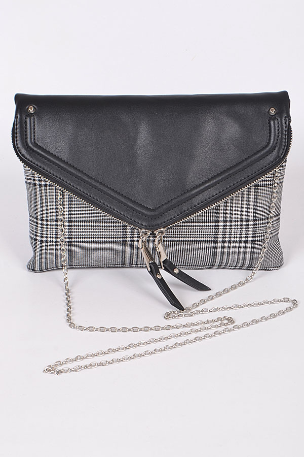 DAILY CLUTCH WITH TASSEL AND ZIPPER - orangeshine.com