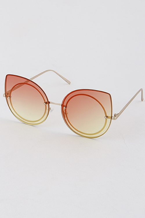 TRENDY TINTED EYECAT SUNGLASSES - orangeshine.com
