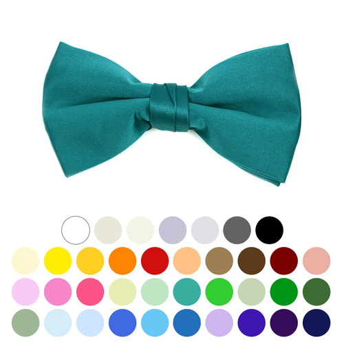 Boys Poly Satin Clip On Bow Ties  - orangeshine.com