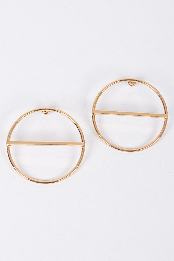 CIRCLE CUT EARRINGS - orangeshine.com