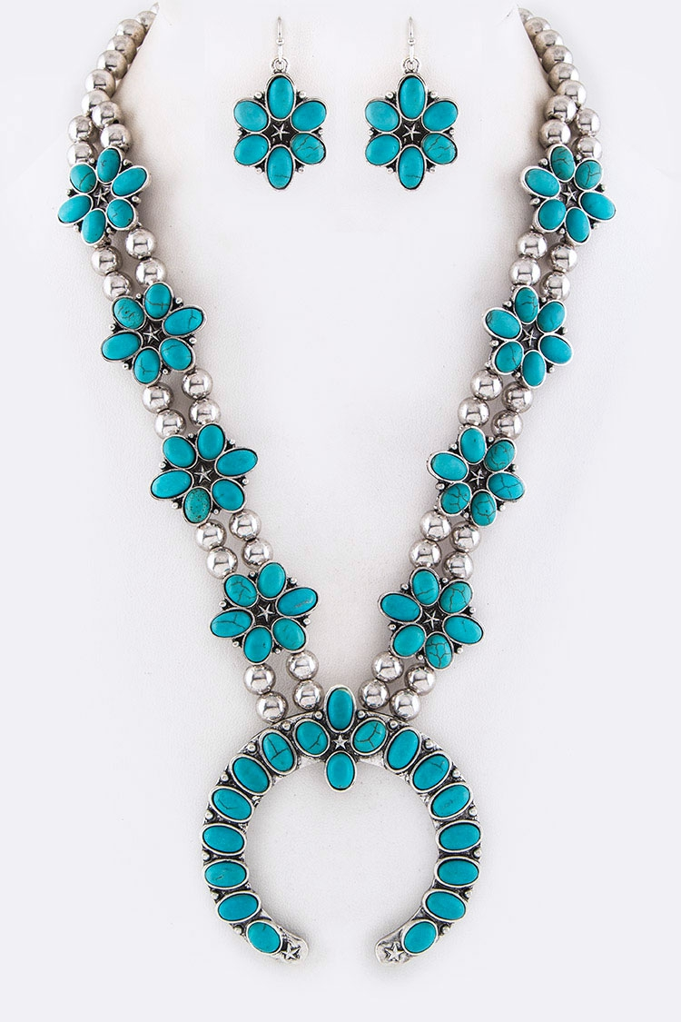 Squash Blossom Statement Necklace  - orangeshine.com