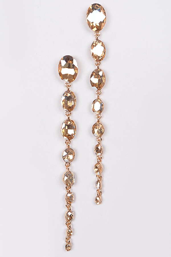 CRYSTAL DROP LOVELY EARRINGS - orangeshine.com
