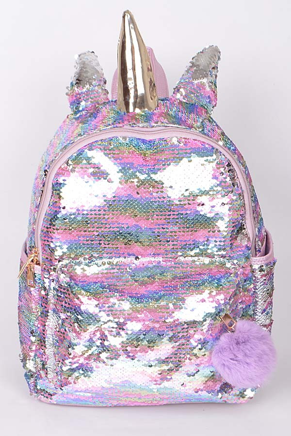 UNICORN INSPIRED FLASHY BACKPACK - orangeshine.com