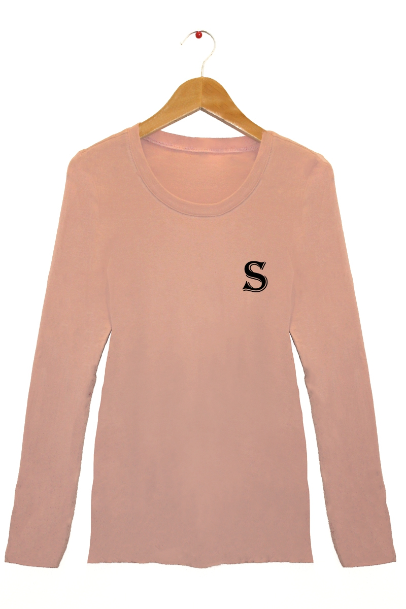 S Letter Graphic Top - orangeshine.com