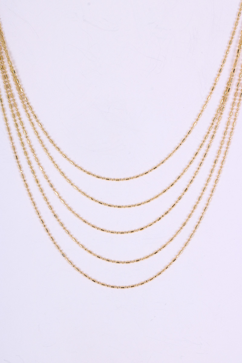 Dainty Layered Ball Chain Necklace - orangeshine.com
