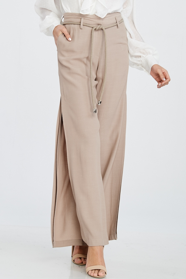 HIGH WAIST PANTS WITH SIDE SLITS - orangeshine.com