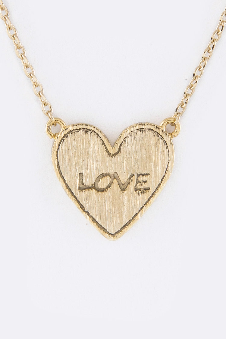 Petite Heart Pendant Necklace - orangeshine.com