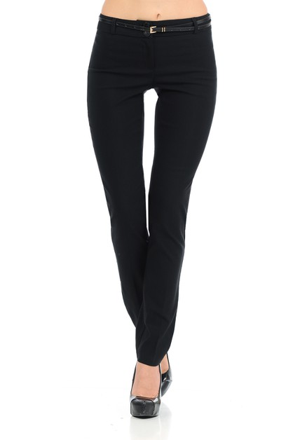 womens basic slim fitting style pant - orangeshine.com