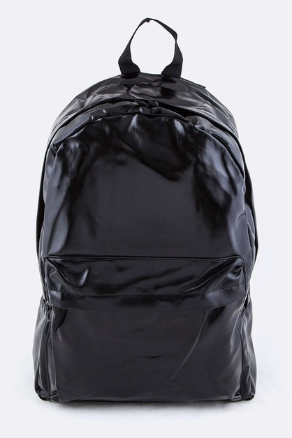 Black Nylon Backpack - orangeshine.com